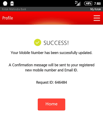 KMB Conformed Mobile Number