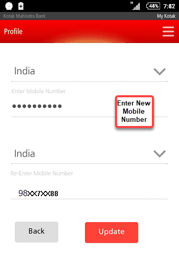 KMB New Mobile Number