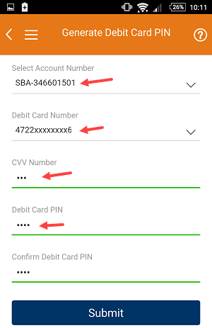 change ICICI Debit Card Pin