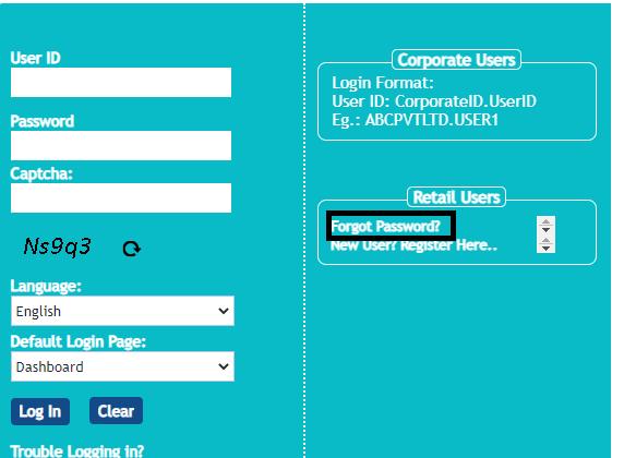 Vijaya Bank Net Banking password
